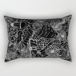 #2 Pencil Doodle (negative image) Rectangular Pillow