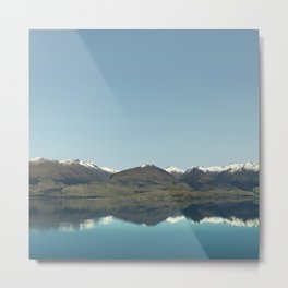 Blue reflections of mountains Metal Print