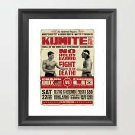 Kumite Fight Poster Framed Art Print