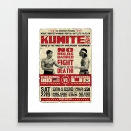 Kumite Fight Poster Framed Art Print