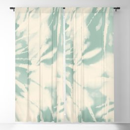 vintage tie dye Blackout Curtain