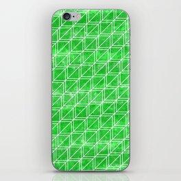 Green Geometric Pattern iPhone Skin