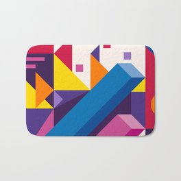 Abstract modern geometric background. Composition 17 Bath Mat
