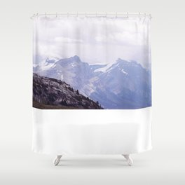 Purple and Pines Shower Curtain