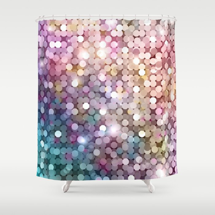 Rainbow glitter texture Shower Curtain