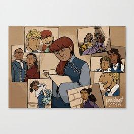 A family found Canvas Print