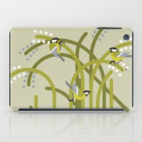 tits iPad Cases featuring Three Great Tits vector illustration by GA Studio