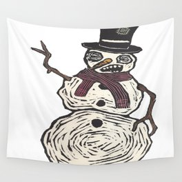 Snow Dude Wall Tapestry
