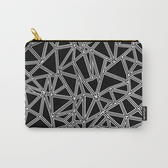 Abstract New White on Black Carry-All Pouch