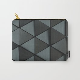Pattern of black triangle prisms Carry-All Pouch