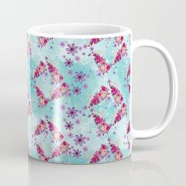 Blue and Pink Flying Tehuana Pattern Coffee Mug