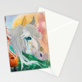 You and me - Horses - Animal - by LiliFlore Stationery Cards