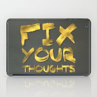 "pocketfuel iPad Cases featuring Phil 4:8 ""Fix your thoughts..."" by Pocket Fuel"