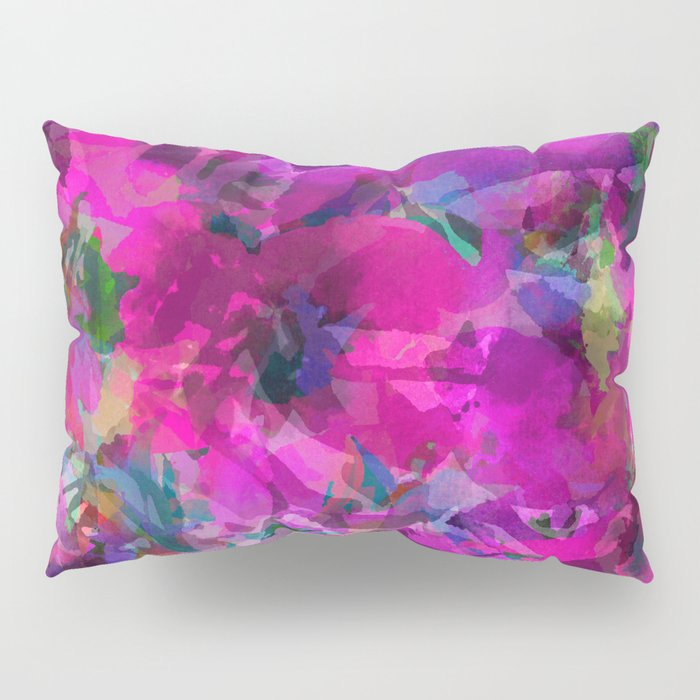 Pink Poppy Jungle Pillow Sham