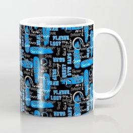 Gamer Lingo-Black and Blue Coffee Mug