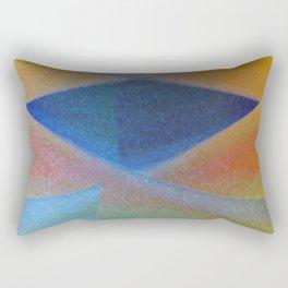 Blue Diamond Squared Rectangular Pillow