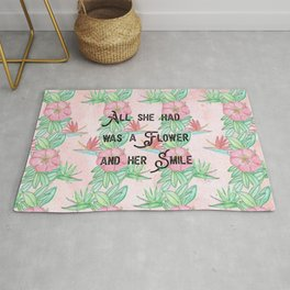 Surfer girl quotes Rug