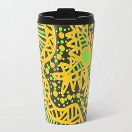 Doodle 16 Yellow Travel Mug