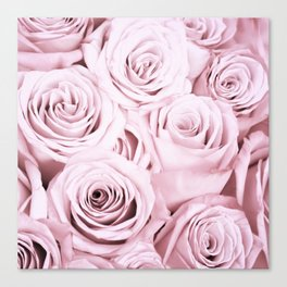 Pink Roses Flowers - Rose and flower pattern Canvas Print