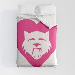 Wildcat Mascot Cares Pink Comforters