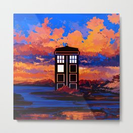 TARDIS at PAINTING Metal Print