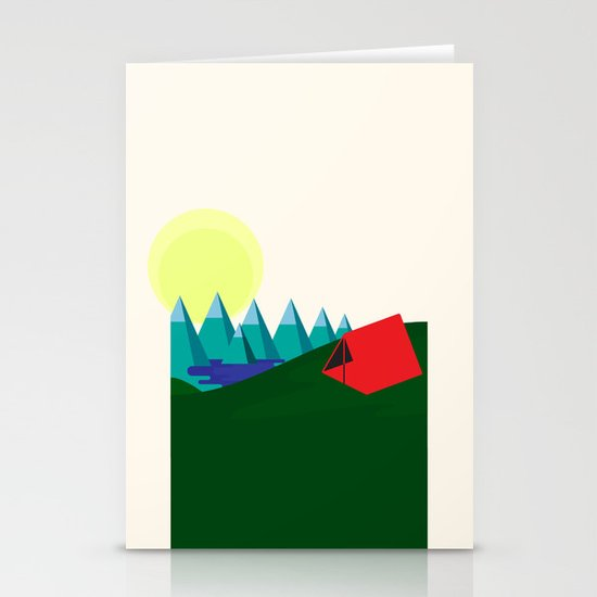 Camping is fun! Stationery Cards