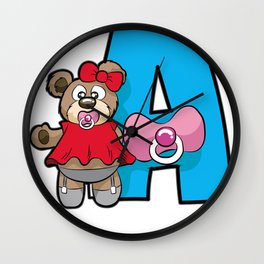 AGE PLAY Teddy ABDL Adult Baby Diaper Lover ddlg Wall Clock