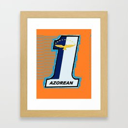 Azorean Biker Orange Framed Art Print