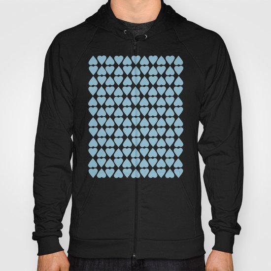 Diamond Hearts Repeat Blue Hoody