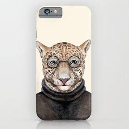J is for a Jaguar Just Hangin' Out | Watercolor Jaguar iPhone Case