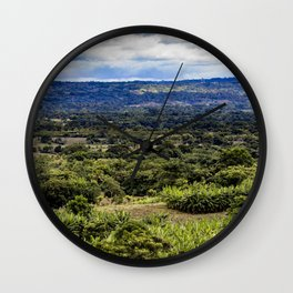 Stunning Views of the Nicaraguan Countryside and Farms from the Rainforest of Nicaragua Wall Clock