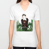 photographer V-neck T-shirts featuring Photographer by ELCORINTIO