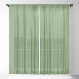 FOREST GREEN solid color Sheer Curtain