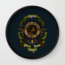Sgt Bucky Barnes (green) Wall Clock