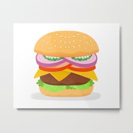 Cheeseburger Metal Print
