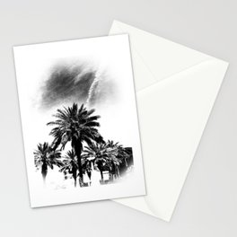 Palms Trees in Downtown  Stationery Cards