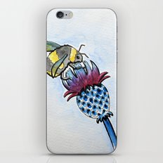 Thistle and Bee iPhone Skin