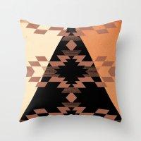 mexico Throw Pillows featuring Mexico by Laura Santeler