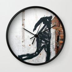 People Disappear, Right Before Our Eyes, Like Old Bricks In a Wall Wall Clock