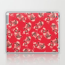 Boho red floral pattern hand drawn Laptop & iPad Skin