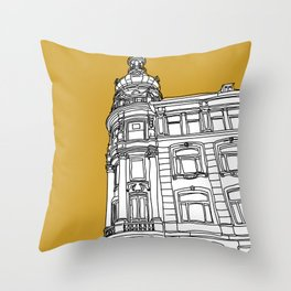 Mustard Cph Throw Pillow
