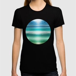 """Blue sky over teal sea South"" T-shirt"