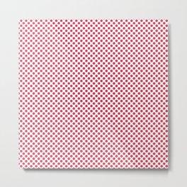 Teaberry Polka Dots Metal Print