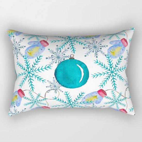 Blue Snowflakes #3 Rectangular Pillow