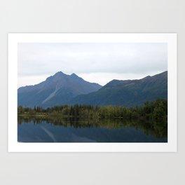 Fall Mountain Reflection Art Print