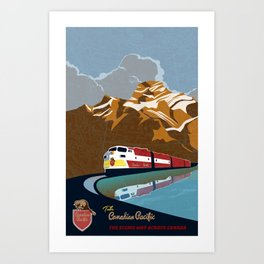 vintage CP rail poster Art Print