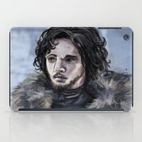 jon snow iPad Cases featuring Jon Snow by amberandtigers