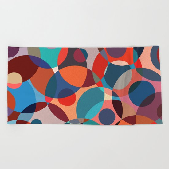 Crowded place Beach Towel