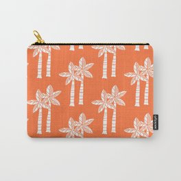 Palm Tree Pattern Orange 3 Carry-All Pouch