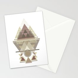 Triangular Abyssal, brown edition Stationery Cards